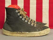 Vintage 1930s Keds Antique Blue Canvas Basketball Sneakers Sz.6 Display Shoes