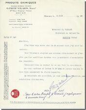 Lettre G-FRITZ - VILRS Produits chimique Rouen 1932