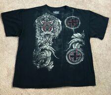 MMA Elite Men's 2XL XXL Black Graphic T Shirt Cross Salvation Brand Logo Sleeves