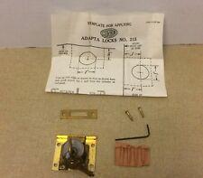 """Vintage Corbin Adapta #215 Lock Cabinet Chest Drawer NOS Solid Brass  """"NO BOX"""""""