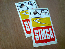 SIMCA course Rally Classic Car Stickers Autocollants 2 large de 170mm