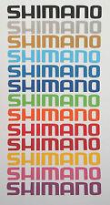 4 x 20 cm LONG SHIMANO ADESIVI-Vinile Decalcomania ciclo INGRANAGGI SEAT BOX TELAIO BICI