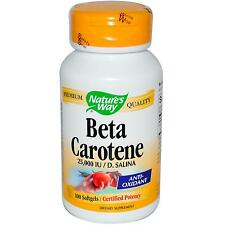 Beta Carotene (25000 IU / D. Salina) - 100 Softgels - Nature's Way