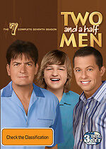 Two And A Half Men : Season 7 (DVD, 2010, 3-Disc Set) Region 4 Used Like NEW