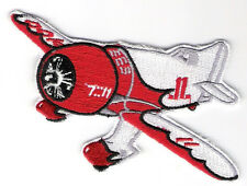GEE BEE RACER Aircraft Airplane Aviation Collectable Embroidered Patch Red/W