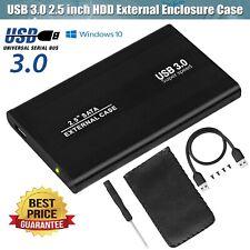 USB 3.0 SATA 2.5? Hard Drive External Enclosure HDD SSD Disk Case CaddyBox Black