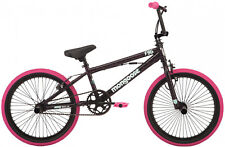 BMX Girls Bike 20 inch Pink/black freestyle pegs single-speed Linear Pull Brakes