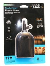 myTouchSmart Automatic Plug-In Outdoor Outlet Timer Sensor Dusk - Easy To USE!