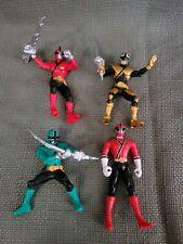 Power Rangers Super Samurai Lot 3 Gold Green Red  Ranger Figure plus bonus Red