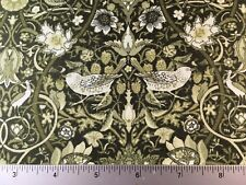 William & Mary Art Nouveau Floral In The Beginning  6GSC 5 Green - Quilt Fabric