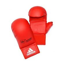 Adidas WKF Karate Mitts with Thumb Red Competition Sparring Gloves S, M, L, XL