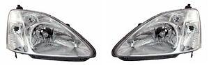 Honda Civic MK7 EP3 EU Si HEADLIGHT PAIR LEFT RIGHT NEW 2001-2003 TYC