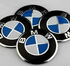 4x (Sticker) 60mm BMWs Wheel Centre Cap Hub Caps Stickers Logo Blue/Silver