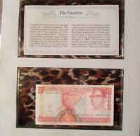 *Most Treasured Banknotes Gambia 1991 5 Dalasis P 12b UNC Prefix A sign. 11