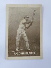 ORIGINAL 1930S CRICKET TRADING CARD / A G CHIPPERFIELD - AUSTRALIA .. GRIFFITHS