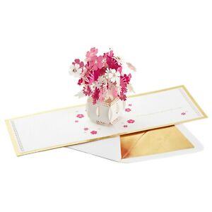 Hallmark Thinking of You Signature Card ~ Pop Up Flower Decor Display Beautiful