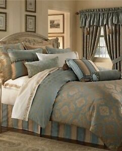 WATERFORD REARDAN BLUE/GOLD KING DUVET COVER NEW IN PACKAGE