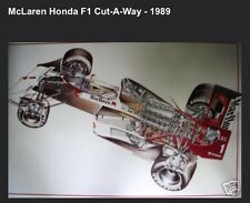 McLaren Honda F1 Cutaway 1989 Hard to Find Out Of Print Car Poster. WOW!