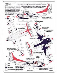 Warbird USAF Thunderbirds, C-123 Provider 1960-61, Décalques 1/72 035 De Roden