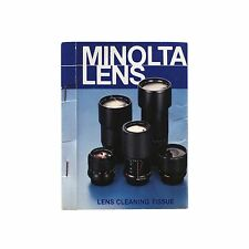 Vintage MINOLTA LENS - lens cleaning tissue, unused in original cardboard sleeve