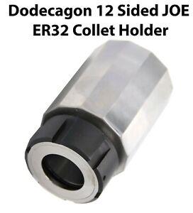 12-Sided JOE ER32 Collet Block Dodecagon eSpring Chuck Holder CNC Milling Lathe