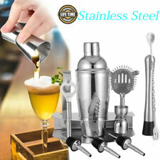 12 PC Bartender Kit Complete Cocktail Shaker Bar Set Stainless Steel Tools Mix