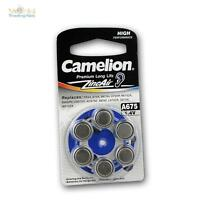 6 Pack Hearing aid battery A675, batteries Camelion