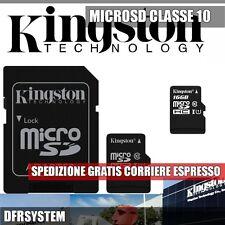 MEMORIA MICRO SD 16GB Kingston con + Adattatore SD Classe 10 SDC10-16GB OFFERTA