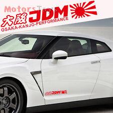 (1) JDM Red Rising Sun Osaka Kanjo Performance Reflective Car Sticker Decal