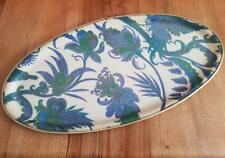More details for vintage 1960's arnold designs fibreglass serving tray oval paisley mid-century