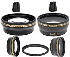 52mm Wide Angle Lens  & 2X Telephoto Lens for Panasonic Lumix DMC-G7K DMC-G7