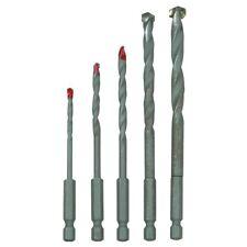 Quick Change Masonry Drill Bit Set 5 Pc