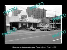 OLD LARGE HISTORIC PHOTO OF MONTGOMERY ALABAMA, TURNERS CAR SERVICE CENTER c1950