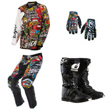 O'Neal Mayhem Crank motocross dirtbike MX gear - Jersey Pants Gloves Boots Combo