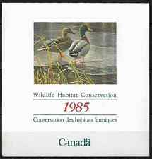 Canada Stamps -1985, Wildlife Habitat Conservation: Mallards -Unitrade #FWH1 MNH