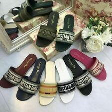 NEW Fashion women's flower women beach shoes one-line slippers