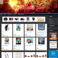 CHRISTMAS STORE - Fully Automated & Functional Affiliate Online Website For Sale