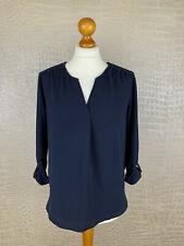 TOM TAILOR Damen Gr. S Shirt Bluse Stretch navy Blau marine Tunika 4A2