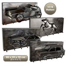 Große HAKU® 3D Stahl Wandgarderobe   6 Wandhaken   80x32x16cm   Hakenleiste Flur