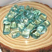 1/4 Pound Medium Blue Aqua Obsidian Tumbled Stone (Protection,Reiki Crystal)