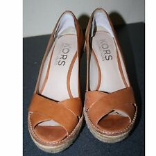 Women's, Brown Wedge Heel Slip On shoes by Michael Kors Size 6.5 M