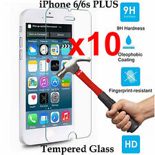 x10 Tempered Glass 9H screen protector Apple iPhone 6 6s PLUS Front