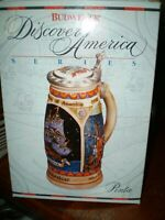 Budweiser Beer Stein Discover America Series Pinta Collectible 1992