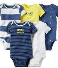 66001BI-Baby boy romper short sleeve per piece-Carter