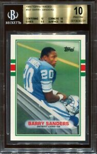 1989 Topps Traded Barry Sanders #83T Rookie RC BGS 10