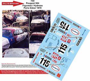 Decals 1/43 Ref 0722 Peugeot 504 Figureau Rally Paris Dakar 1979 Rally