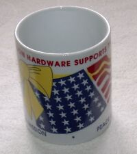 1990s Stevenson Hardware Montebello CA Coffee Cup/Mug 10 oz Supports the Troops