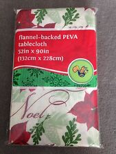 Holiday Style Tablecloth 52 in x 90 in (132  x 228 cm) Flannel Backed PEVA(T-19)