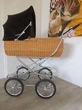 Wunderschöner Emmaljunga nostalgie Kinderwagen. Korbkinderwagen. Cordstoff.