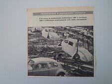 advertising Pubblicità 1962 VOLKSWAGEN MAGGIOLINO BEETLE